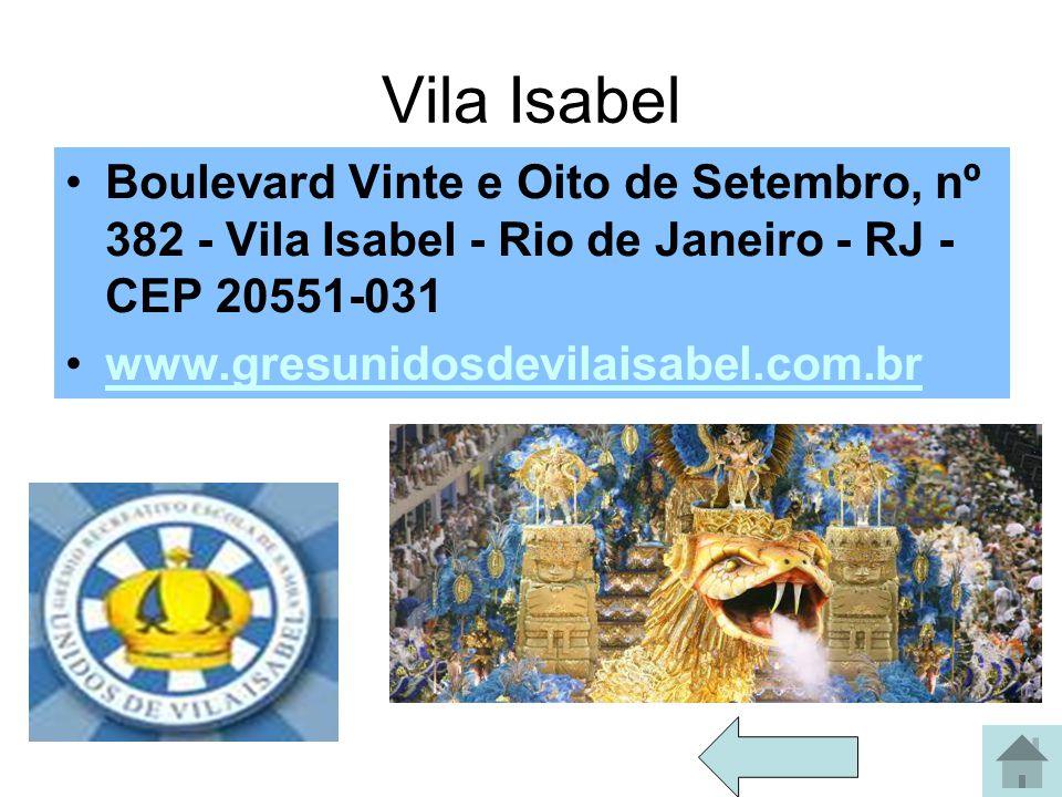 Salgueiro Rua Silva Teles, 104 - Andaraí - Rio de Janeiro - RJ – CEP 20541-110 www.salgueiro.com.br