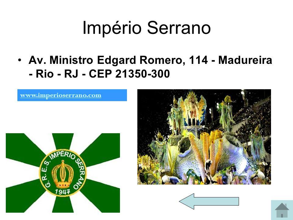 Portela Rua Clara Nunes, 81 - Madureira - Rio de Janeiro - RJ CEP 21351-110 www.gresportela.com.br