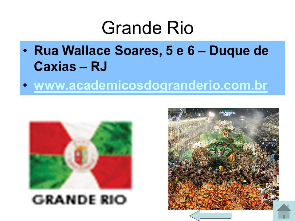 Império Serrano Av. Ministro Edgard Romero, 114 - Madureira - Rio - RJ - CEP 21350-300 www.imperioserrano.com