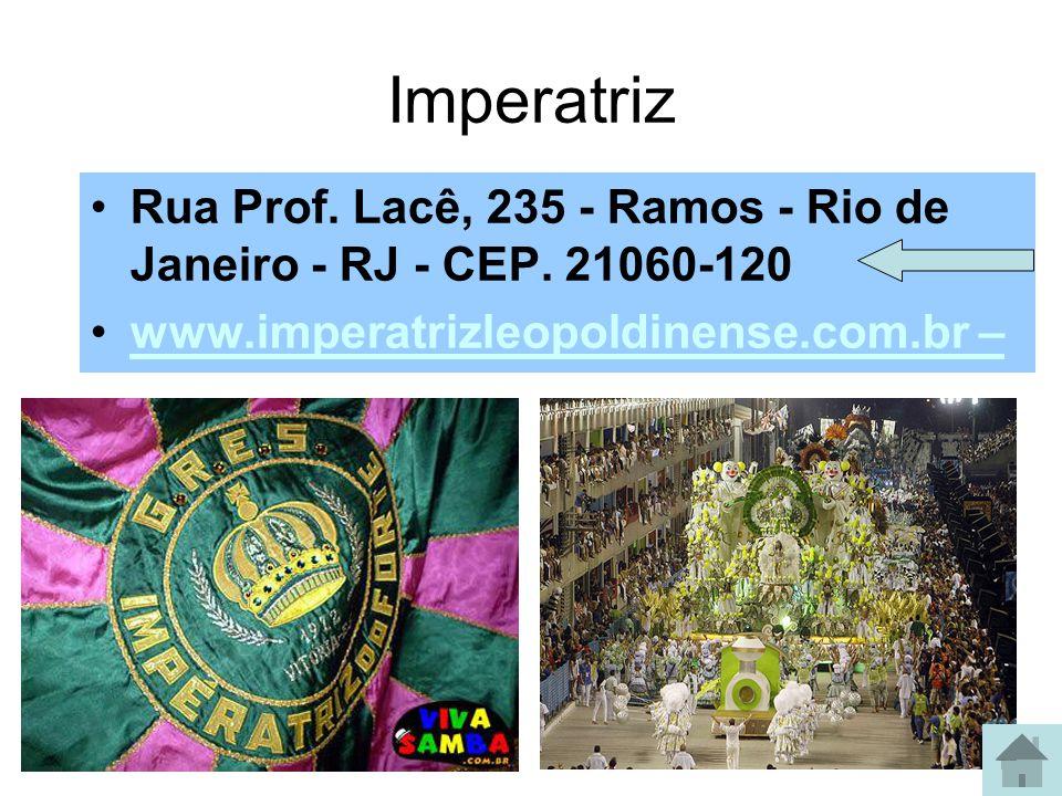 Grande Rio Rua Wallace Soares, 5 e 6 – Duque de Caxias – RJ www.academicosdogranderio.com.br