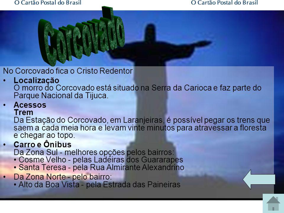 Corcovado Pão de Açúcar Praia de Copacabana Arcos da Lapa Jardim Botânico Igreja da Candelária Museu Histórico Maracanã