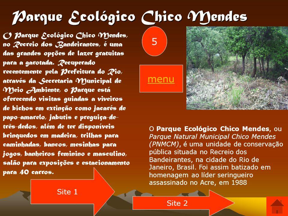 Parque Nacional da Tijuca Possui cerca de 39,51 km², sendo o segundo menor Parque Nacional do Brasil...Endereço da Floresta da Tijuca e Sede Administr
