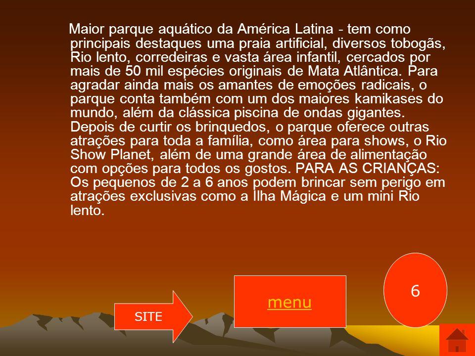 Parque Aquático Rio Water Planet Local: Rio Water Planet. Endereço: Estrada dos Bandeirantes, 24.000. Bairro: Vargem Grande. Tel.: (21)2428-9000 e (21