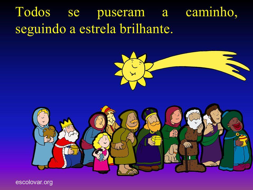 escolovar.org Não temais, disse- -lhes o anjo, porque em Belém nasceu o Salvador do mundo. Podeis encontrá-lo num estábulo, deitado numa manjedoura. E