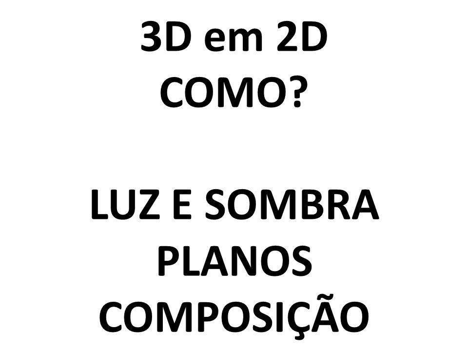 3D em 2D COMO? LUZ E SOMBRA PLANOS COMPOSIÇÃO