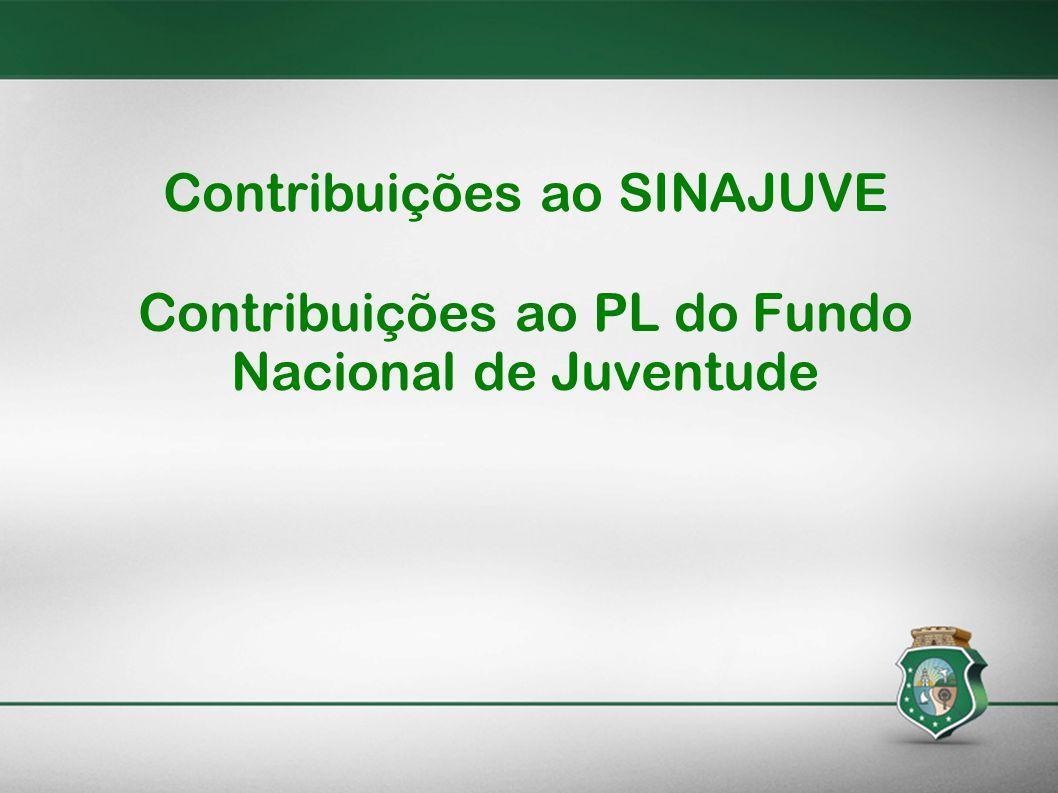 Contribuições ao SINAJUVE Contribuições ao PL do Fundo Nacional de Juventude