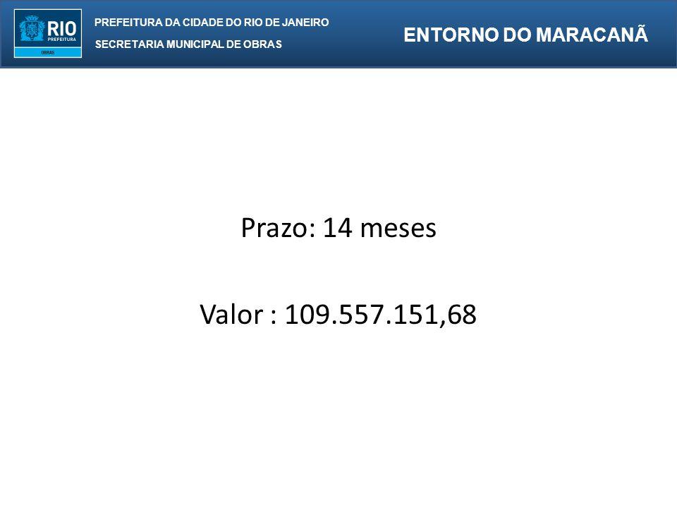 PREFEITURA DA CIDADE DO RIO DE JANEIRO SECRETARIA MUNICIPAL DE OBRAS ENTORNO DO MARACANÃ LEVANTAMENTO DE QUANTIDADES