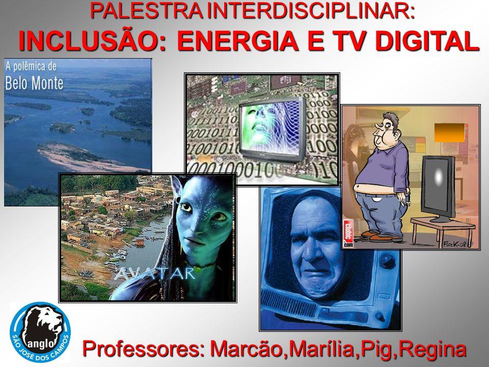 PALESTRA INTERDISCIPLINAR: Professores: Marcão,Marília,Pig,Regina INCLUSÃO: ENERGIA E TV DIGITAL