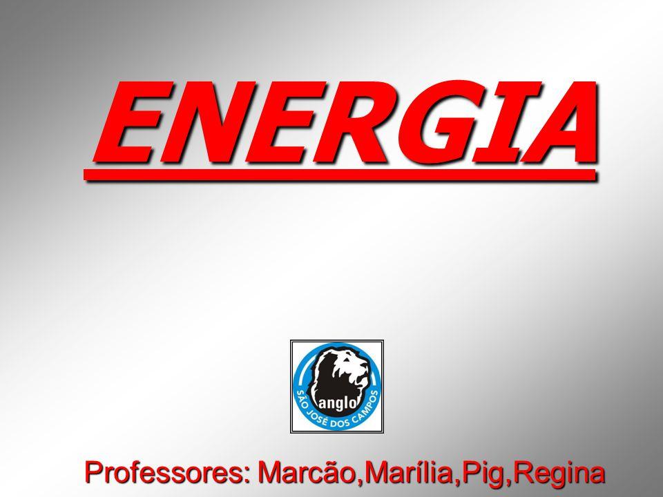 ENERGIA Professores: Marcão,Marília,Pig,Regina
