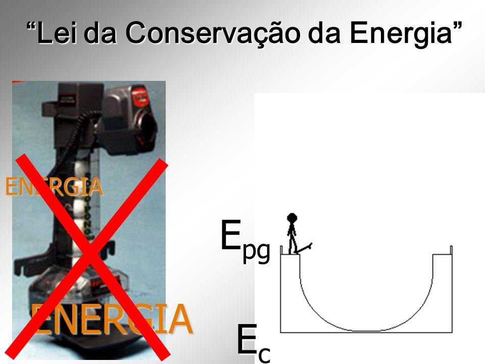 ENERGIA ENERGIA Lei da Conservação da Energia E pg EcEcEcEc
