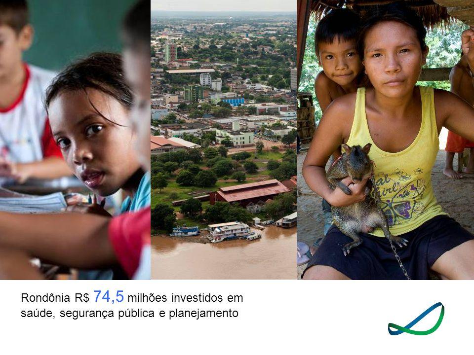 Rondônia R$ 74,5 milhões investidos em saúde, segurança pública e planejamento