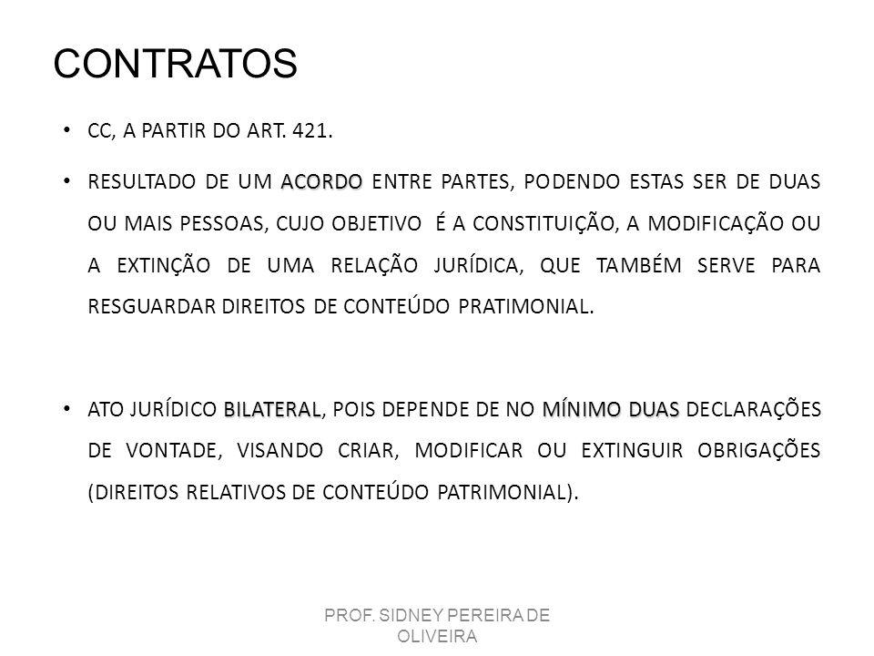 CONTRATOS CC, A PARTIR DO ART. 421. ACORDO RESULTADO DE UM ACORDO ENTRE PARTES, PODENDO ESTAS SER DE DUAS OU MAIS PESSOAS, CUJO OBJETIVO É A CONSTITUI