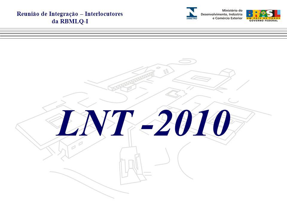 Reunião de Integração – Interlocutores da RBMLQ-I LNT -2010