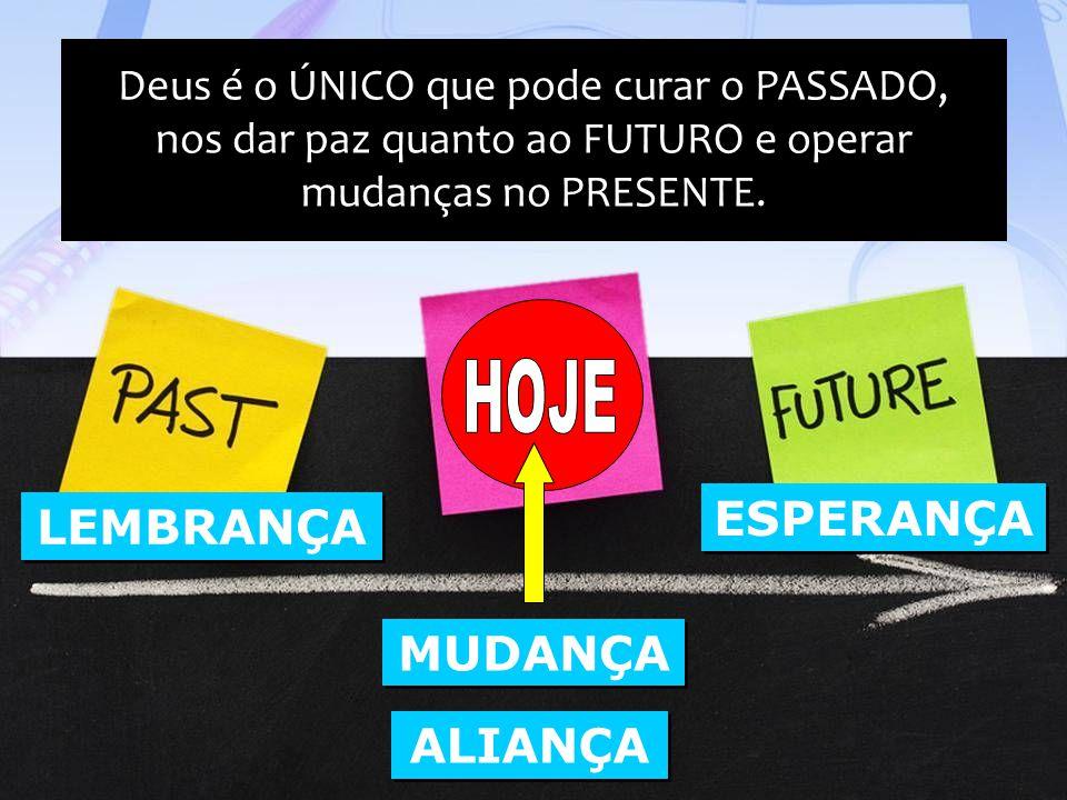 Deus é o ÚNICO que pode curar o PASSADO, nos dar paz quanto ao FUTURO e operar mudanças no PRESENTE.