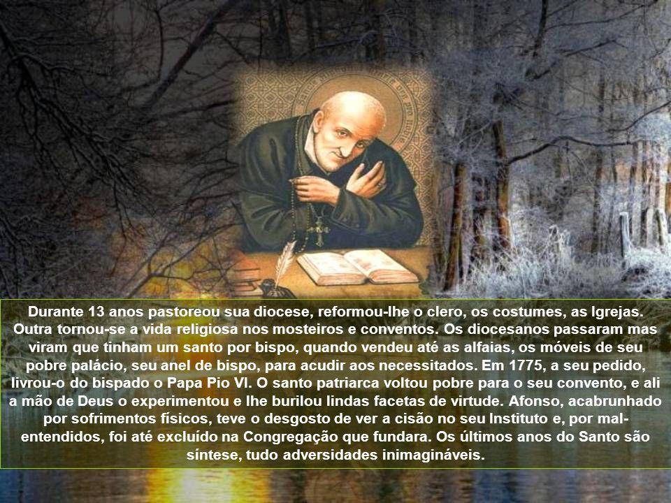À frente de seus súditos percorreu cidades e vilas do Sul da Itália, convertendo pecadores, reformando costumes, santificando as famílias. Era um fach