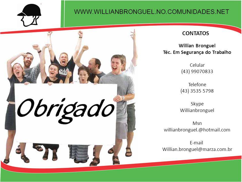 WWW.WILLIANBRONGUEL.NO.COMUNIDADES.NET CONTATOS Willian Bronguel Téc.