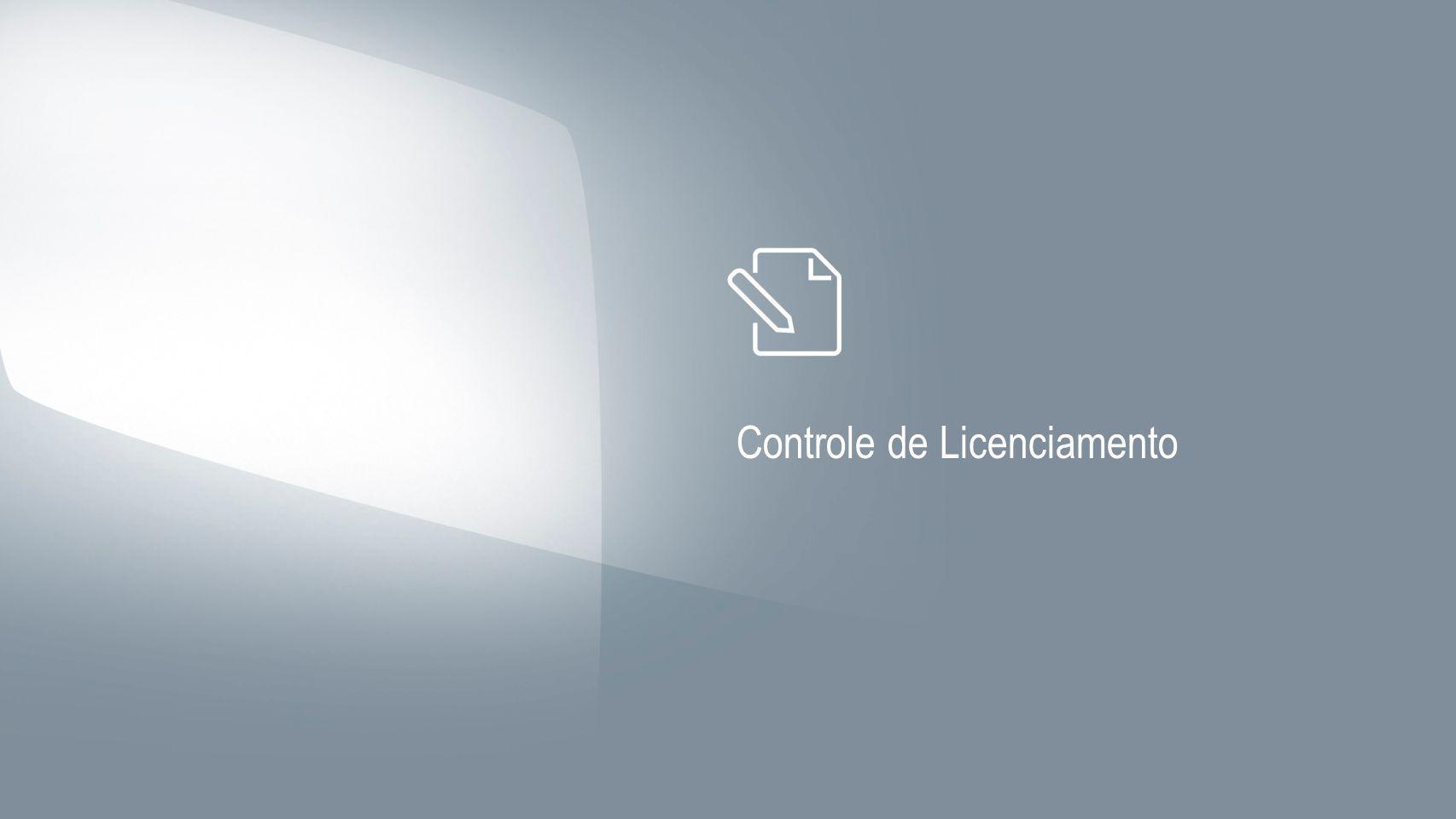 Controle de Licenciamento