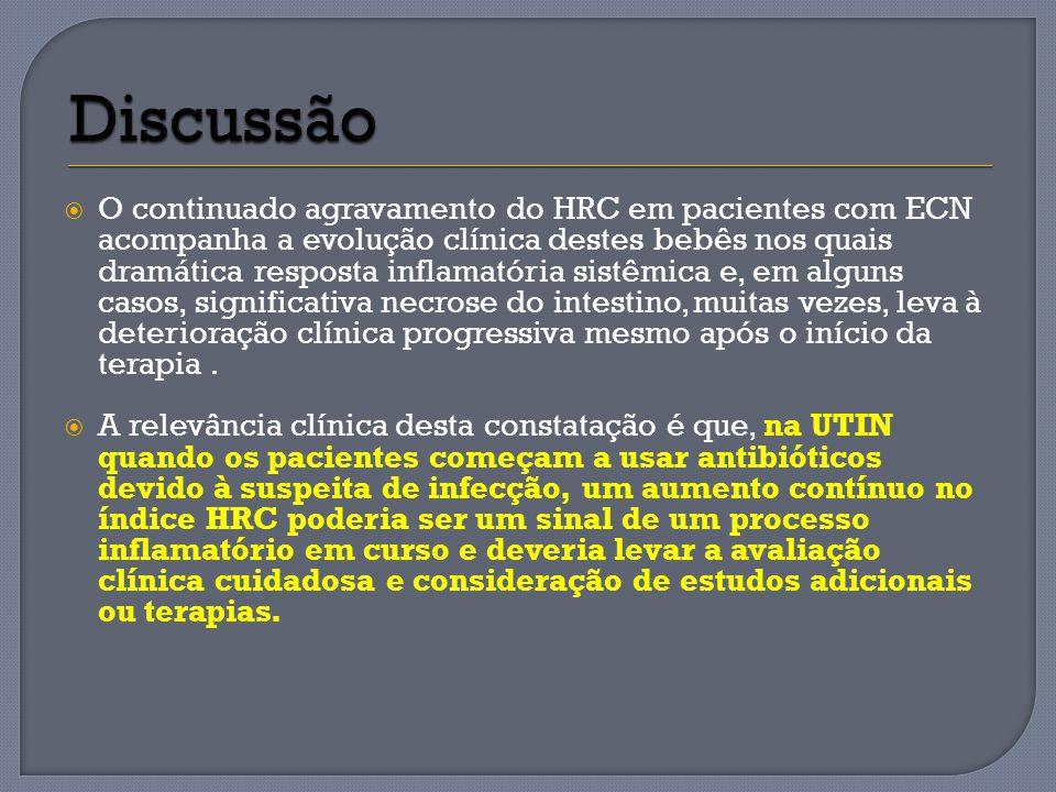 O continuado agravamento do HRC em pacientes com ECN acompanha a evolução clínica destes bebês nos quais dramática resposta inflamatória sistêmica e,