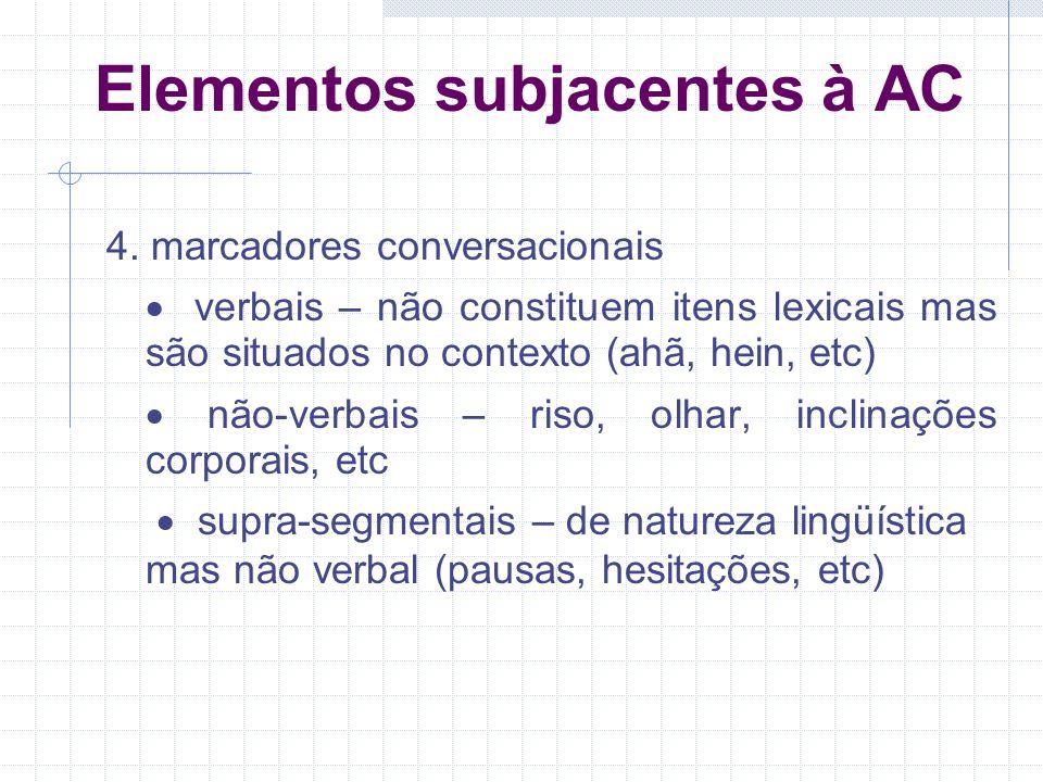 Elementos subjacentes à AC 4.