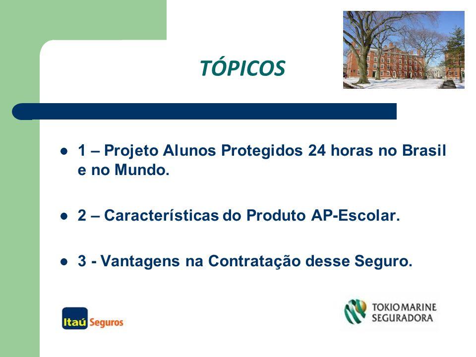 TÓPICOS 1 – Projeto Alunos Protegidos 24 horas no Brasil e no Mundo.