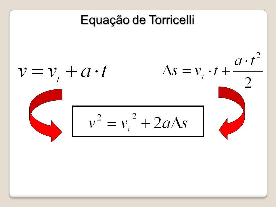 Equação de Torricelli Equação de Torricelli