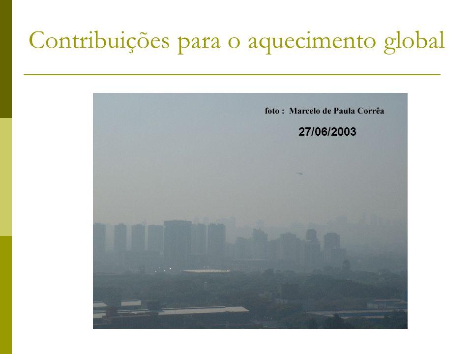 Contribuições para o aquecimento global 05/08/2003 27/06/2003