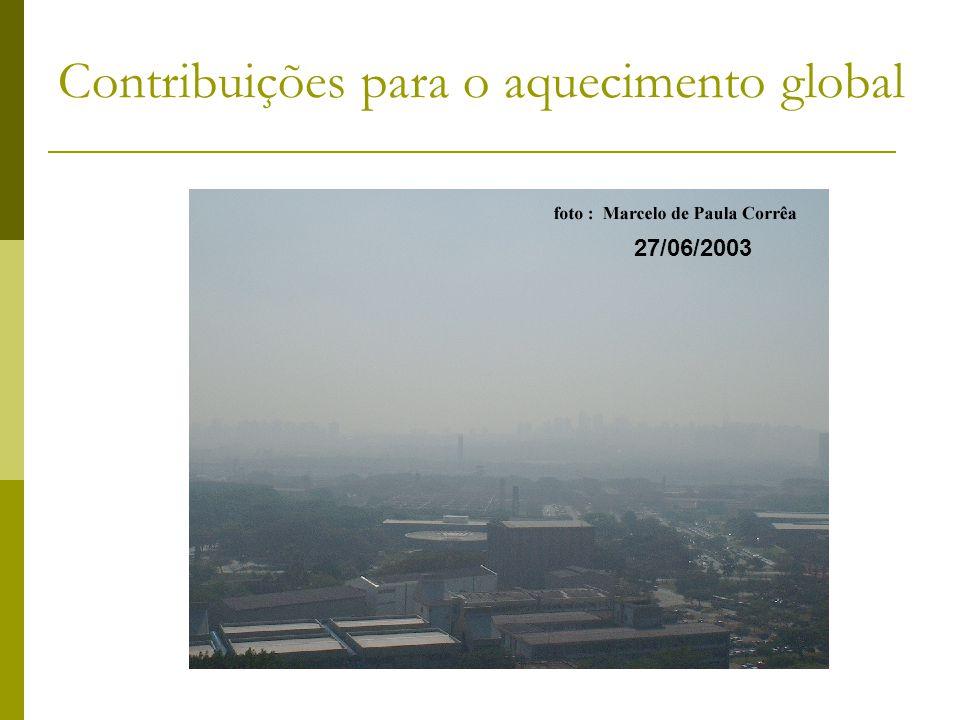 05/08/2003 27/06/2003 Contribuições para o aquecimento global