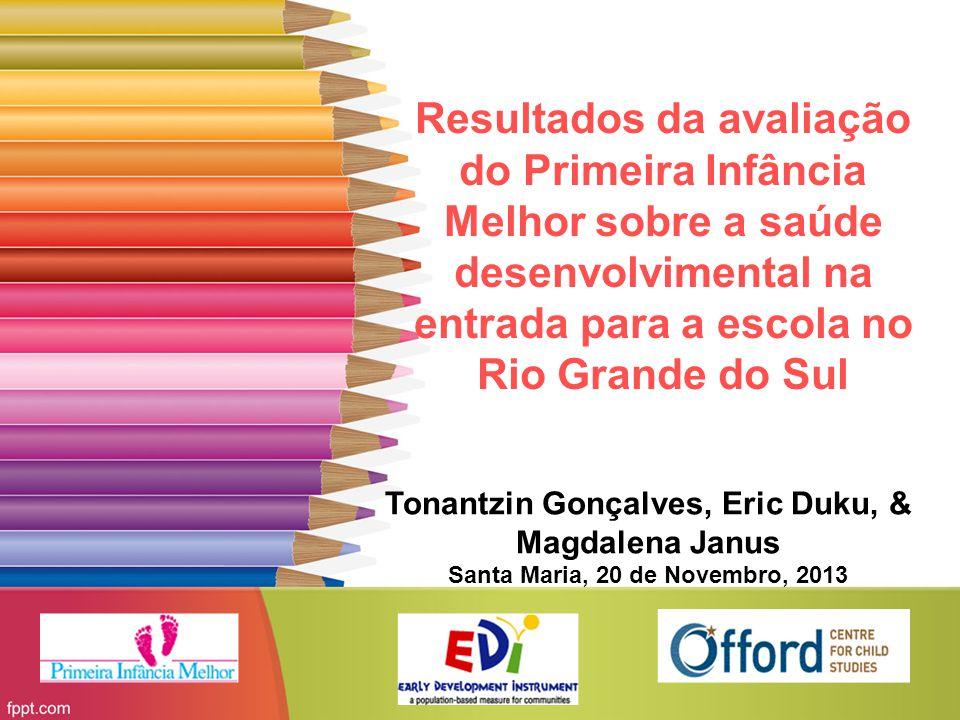 Resultados da avaliação do Primeira Infância Melhor sobre a saúde desenvolvimental na entrada para a escola no Rio Grande do Sul Tonantzin Gonçalves,