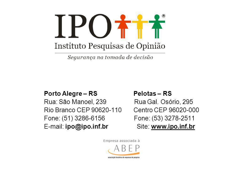 Porto Alegre – RS Pelotas – RS Rua: São Manoel, 239 Rua Gal. Osório, 295 Rio Branco CEP 90620-110 Centro CEP 96020-000 Fone: (51) 3286-6156 Fone: (53)