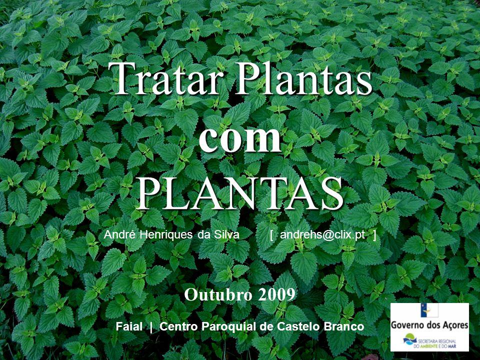Tratar Plantas com PLANTAS Faial   Centro Paroquial de Castelo Branco André Henriques da Silva [ andrehs@clix.pt ] Outubro 2009