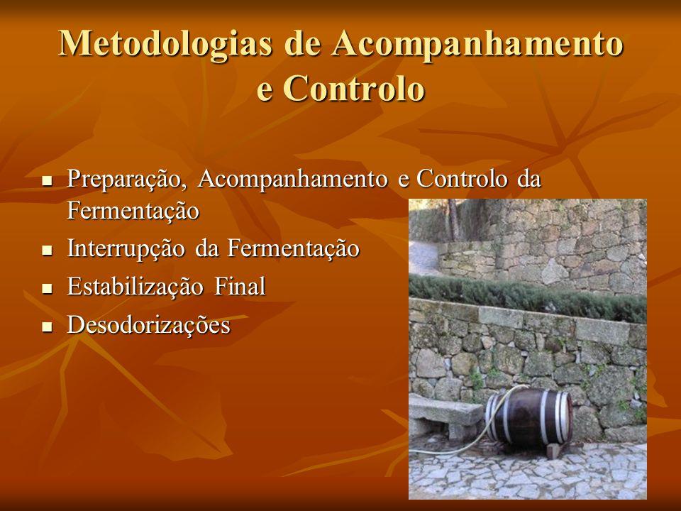 Metodologias de Acompanhamento e Controlo Preparação, Acompanhamento e Controlo da Fermentação Preparação, Acompanhamento e Controlo da Fermentação In