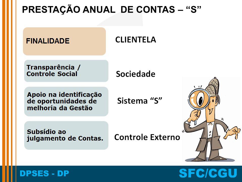 DPSES - DP SFC/CGU PRESTAÇÃO ANUAL DE CONTAS – S