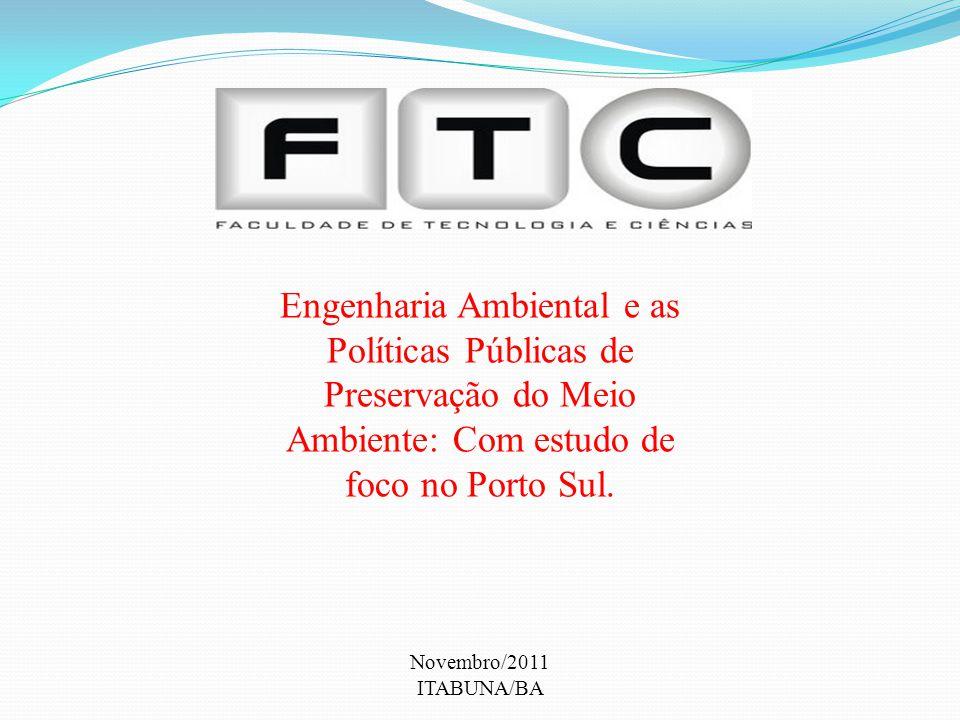 Engenharia Ambiental e as Políticas Públicas de Preservação do Meio Ambiente: Com estudo de foco no Porto Sul. Novembro/2011 ITABUNA/BA