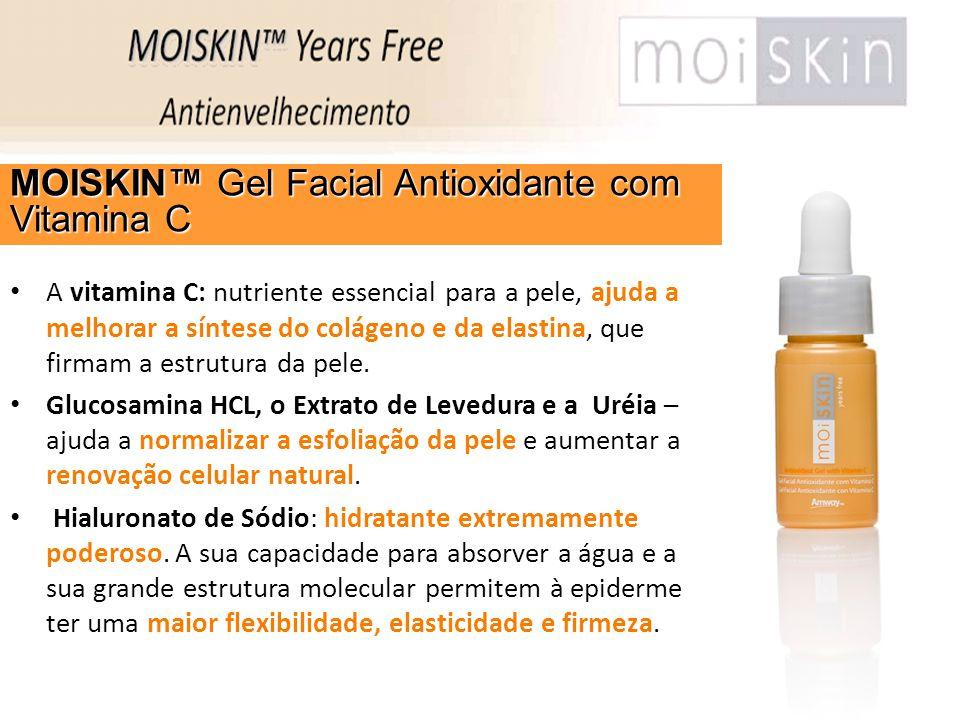A vitamina C: nutriente essencial para a pele, ajuda a melhorar a síntese do colágeno e da elastina, que firmam a estrutura da pele. Glucosamina HCL,