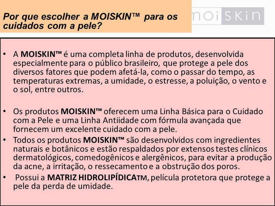 A MOISKIN é uma completa linha de produtos, desenvolvida especialmente para o público brasileiro, que protege a pele dos diversos fatores que podem af