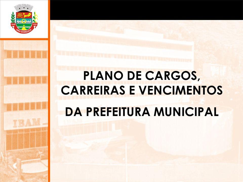 PLANO DE CARGOS, CARREIRAS E VENCIMENTOS DA PREFEITURA MUNICIPAL