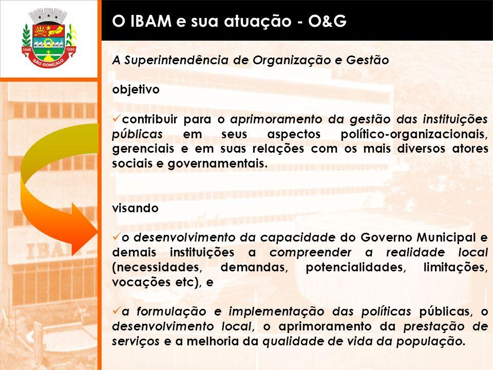 A Superintendência de Organização e Gestão objetivo contribuir para o aprimoramento da gestão das instituições públicas em seus aspectos político-orga