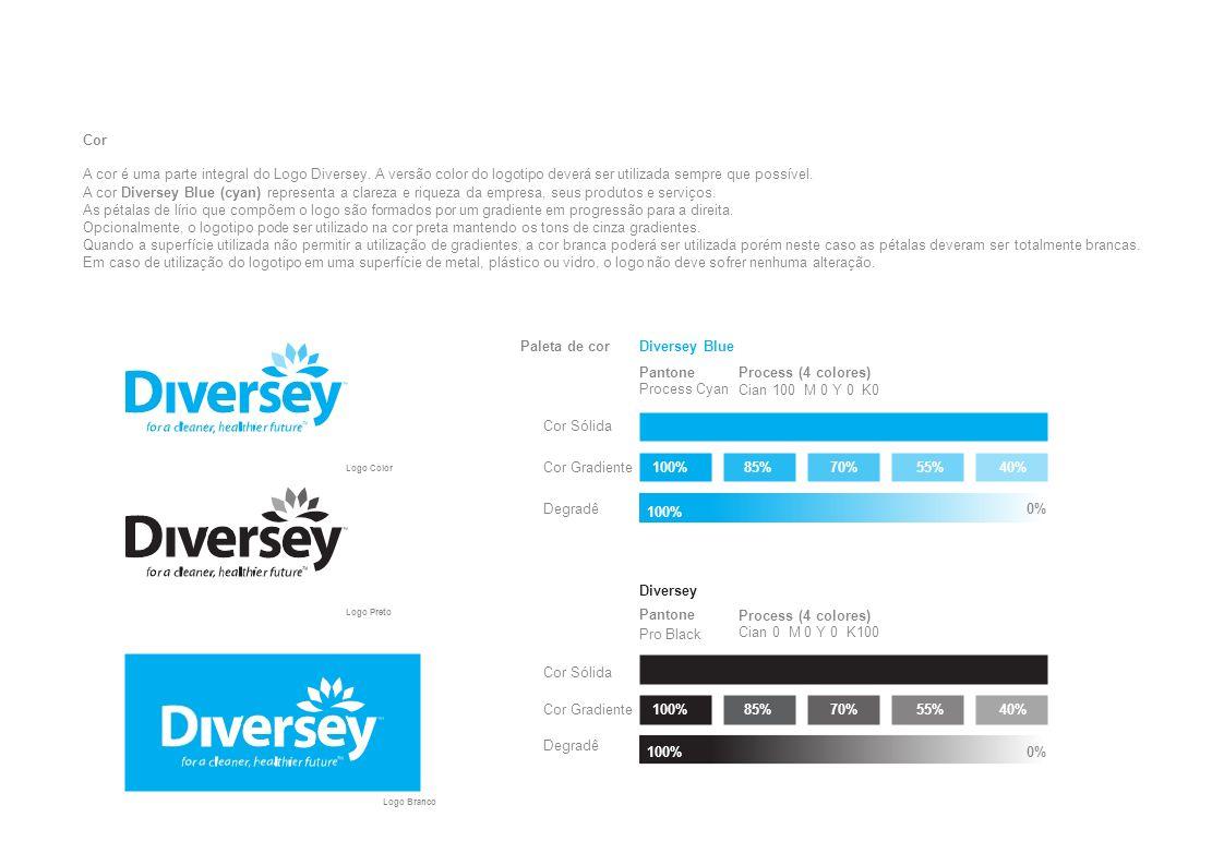 Paleta de corDiversey Blue 100%85%70%55%40% 0% Cor Sólida Cor Gradiente Pantone Process Cyan Process (4 colores) Cian 100 M 0 Y 0 K0 100% 85%70%55%40%