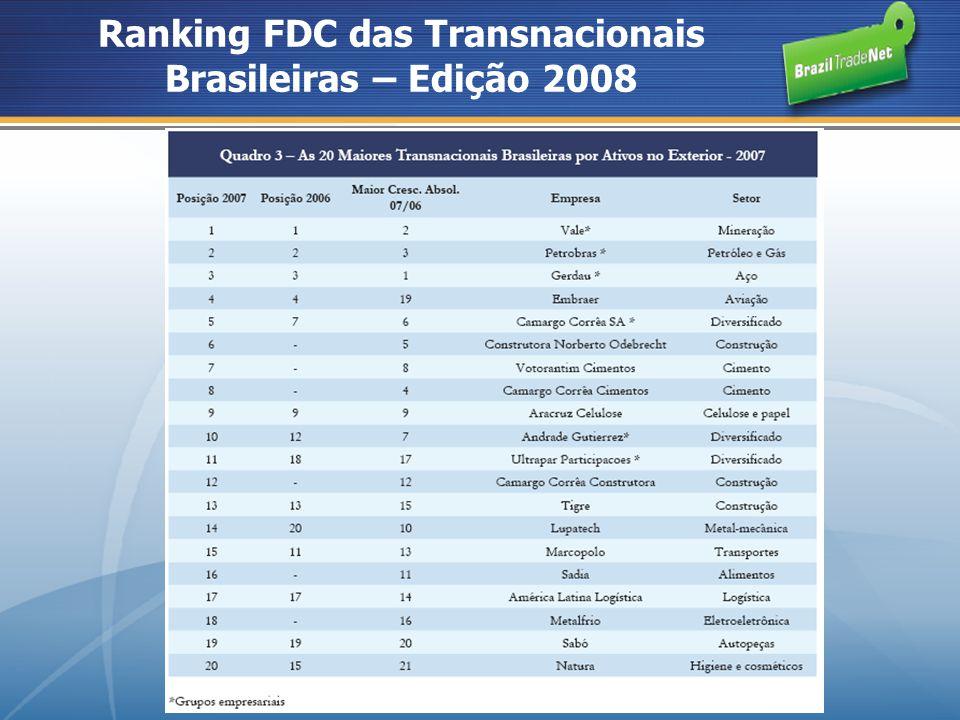Ranking FDC das Transnacionais Brasileiras – Edição 2008