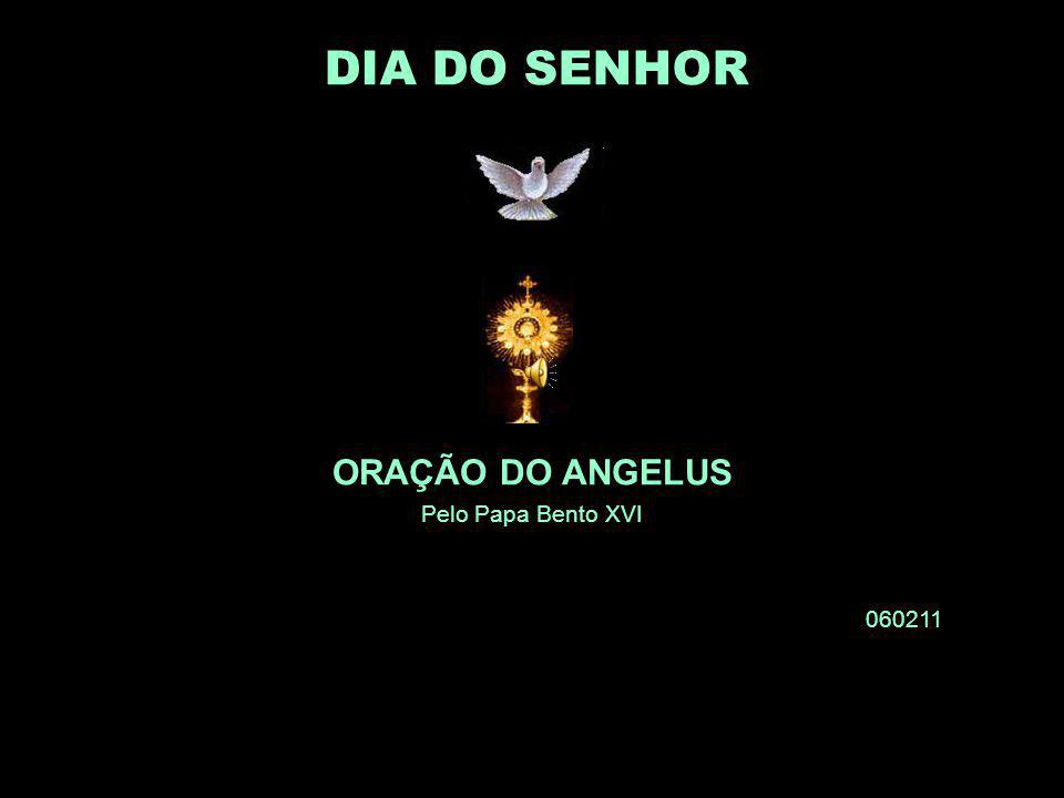ORAÇÃO DO ANGELUS Pelo Papa Bento XVI 060211 DIA DO SENHOR