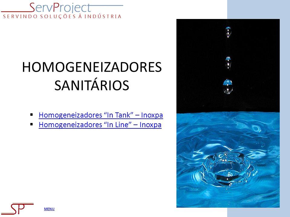 MENU HOMOGENEIZADORES SANITÁRIOS Homogeneizadores In Tank – Inoxpa Homogeneizadores In Line – Inoxpa
