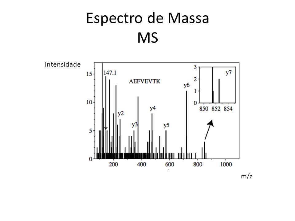 Espectro de Massa MS m/z Intensidade