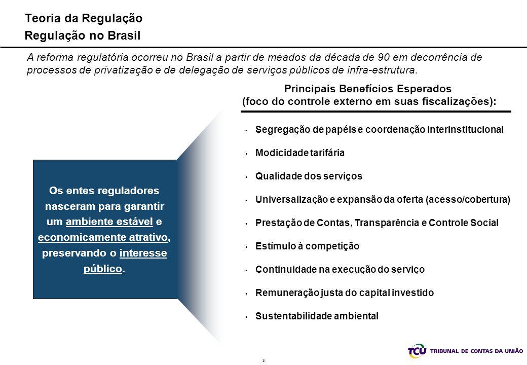 5 Teoria da Regulação Regulação no Brasil A reforma regulatória ocorreu no Brasil a partir de meados da década de 90 em decorrência de processos de pr