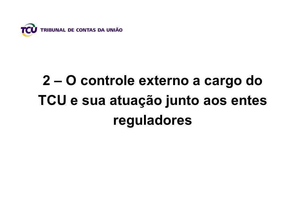 2 – O controle externo a cargo do TCU e sua atuação junto aos entes reguladores