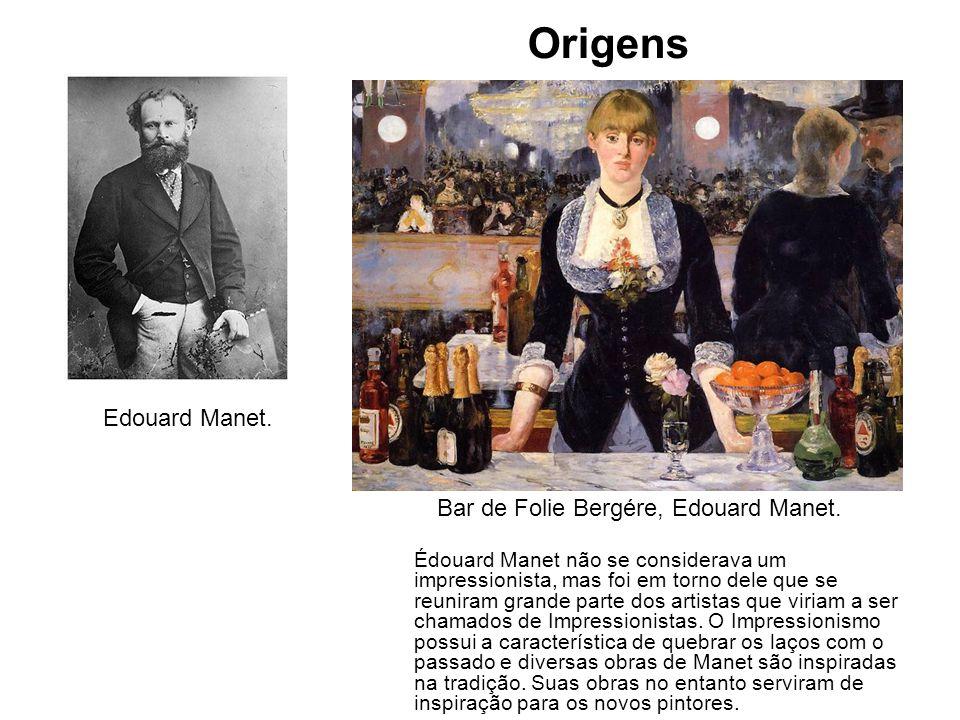 Edouard Manet. Édouard Manet não se considerava um impressionista, mas foi em torno dele que se reuniram grande parte dos artistas que viriam a ser ch