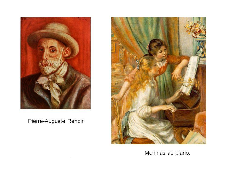 . Pierre-Auguste Renoir Meninas ao piano.