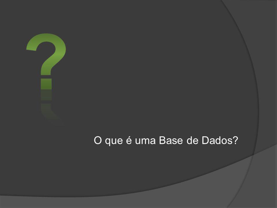 O que é uma Base de Dados?