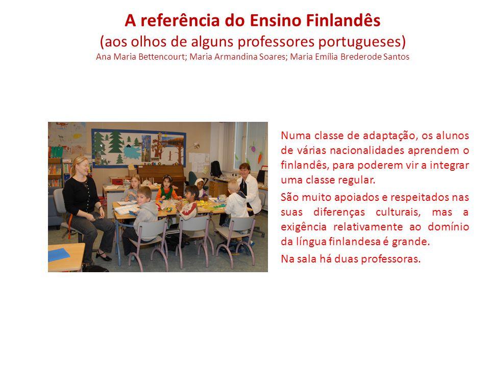 Numa classe de adaptação, os alunos de várias nacionalidades aprendem o finlandês, para poderem vir a integrar uma classe regular.
