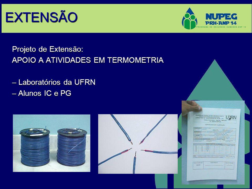 EXTENSÃO Projeto de Extensão: APOIO A ATIVIDADES EM TERMOMETRIA – Laboratórios da UFRN – Alunos IC e PG