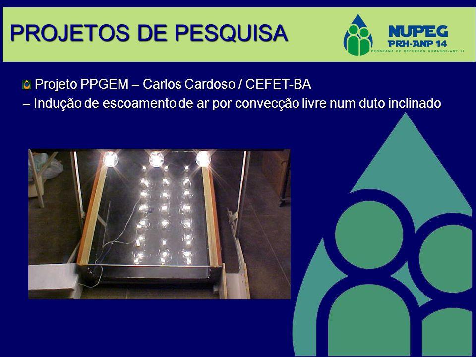 PROJETOS DE PESQUISA Projeto PPGEM – Carlos Cardoso / CEFET-BA Projeto PPGEM – Carlos Cardoso / CEFET-BA – Indução de escoamento de ar por convecção l